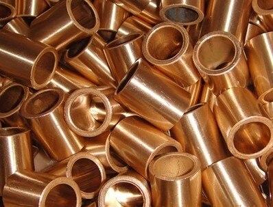 все цены на 25*32*40mm FU-1 Powder Metallurgy oil bushing  porous bearing  Sintered copper sleeve онлайн
