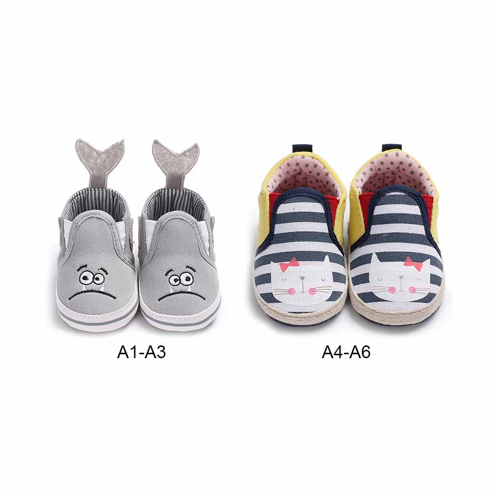 MrY Newborn Girl Cartoon Shoes Toddler Soft Sole Anti-slip Baby Sneakers Comfortable Casual Canvas Shoes New