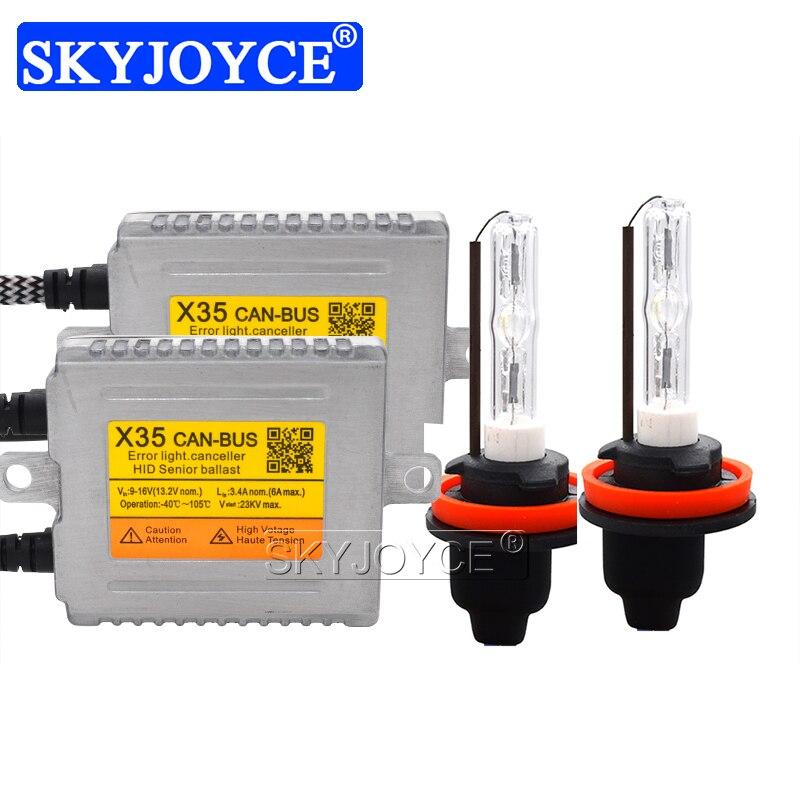35W Cnlight Canbus Xenon Kit DLT X35 Canbus Fast Start HID Ballast Reactor 35W 4300K 6000K H1 H7 H11 D2H Cnlight Ball HID Bulb (13)