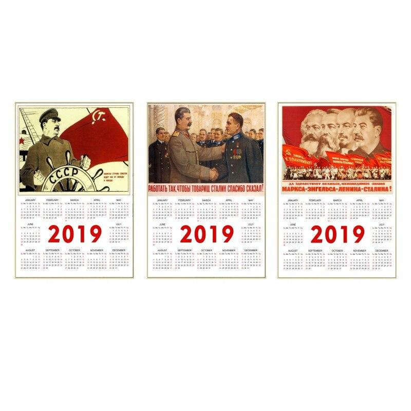 World war II Russian Comrade Joseph Stalin Leninist political propaganda Soviet Union 2019 Calendar poster,buy 3 get 4
