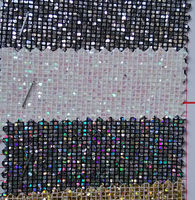 Synthetic PVC Small Square Glitter Leather Fabrics