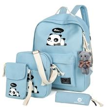 2017, Новая мода рюкзак ранцы школьные для девочек подростков панда Повседневное детей Дорожные сумки рюкзаки с милым принтом