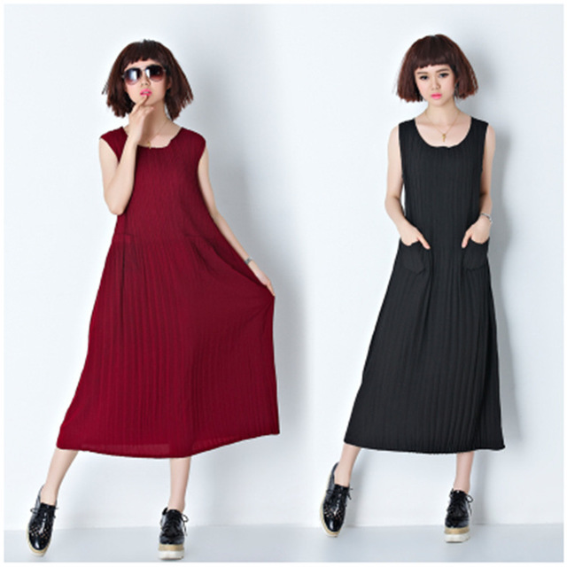 Loose Sling Cotton Maternity Dress Comfortable Clothes for Pregnant Women  Plus Size Summer Clothing for Pregnancy Pleated skirt 3dbead13a456