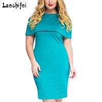 6XL Größe Sommerkleid Großen Größe Büro Bleistift Kleid Rosa Rot Grün Kleider Plus Größe Frauen Kleidung Vestidos