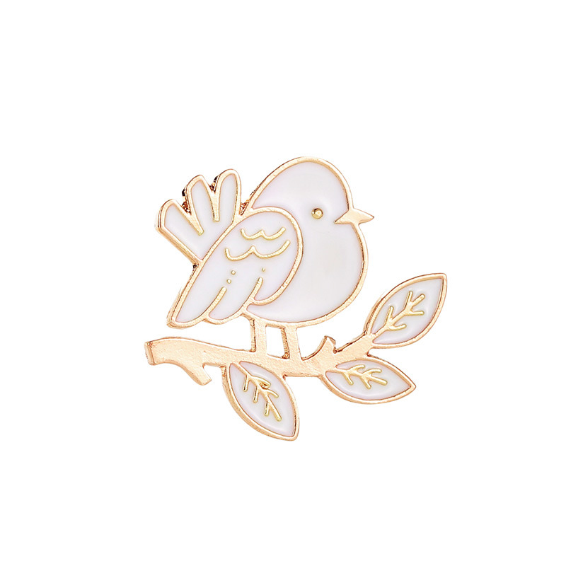 Earnest Cartoon Brooches Little Bird Leaves Enamel Pin For Boys Girls Lapel Pin Hat/bag Pins Denim Jacket Shirt Women Brooch Badge Q627 Invigorating Blood Circulation And Stopping Pains Brooches