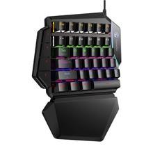 GameSir GK100 Mini mecánica azul interruptores de juegos de PC teclado para juegos FPS una mano teclado con luz LED