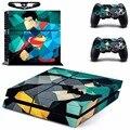 Superman vs batman capa ps4 decalque de vinil adesivo de pele para sony playstation 4 console & 2 controlador skins