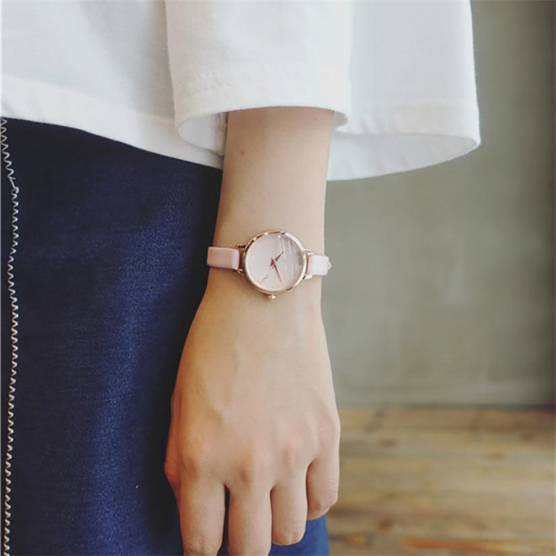 Fashion style dial leather watches