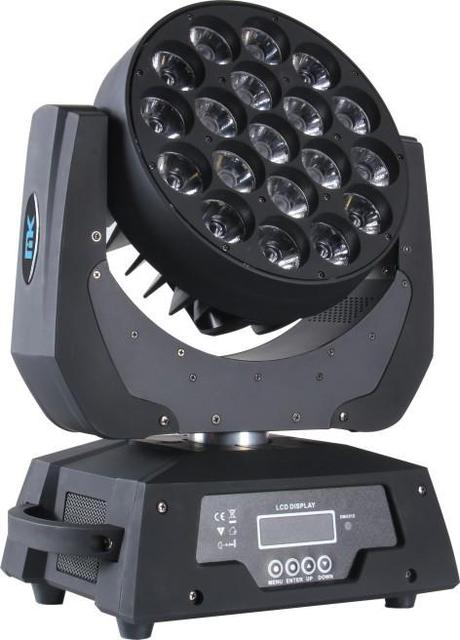 4 in 1 19*12W RGBW LED moving head Light Zoom Beam wash Light fixture stage lighting DMX512 effect FOR DISCO KTV Bar CE ROHS