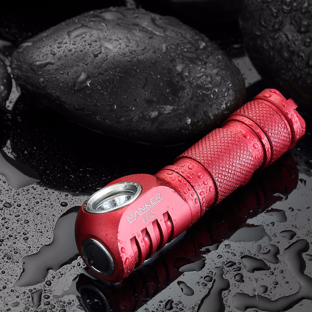 Manker E02 220 Lumen CREE XPG3 /180lm Nichia 219C LED Keychain Light Mini EDC LED Flashlight with Reversible Clip & Magnet Tail  3