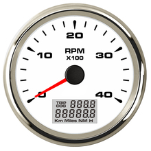 85mm 4000rpm Tachometer On the Board for Car Outboard Motor Engine 4K RPM Gauge with Auto Hourmeter microcentrifuge mini 4k mini centrifuge 4000rpm economic