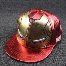 Nueva moda Iron Man chicos niñas gorras niños gorra de béisbol Snapback Hip  Hop sombreros visera niños casquette de béisbol 7523f24b9ea