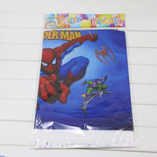 10PCS Disposable Table Cloth Cartoon Cool Spiderman Theme Table Cover  Tablecloth Kid Boy Favors Birthday Party Map 180*108cm