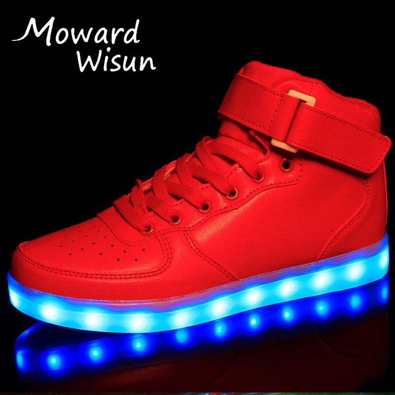 Size25 45 Good USB Luminous Glowing Sneakers Led Shoes With Light Up Sole Kids Boys Girls Enfant