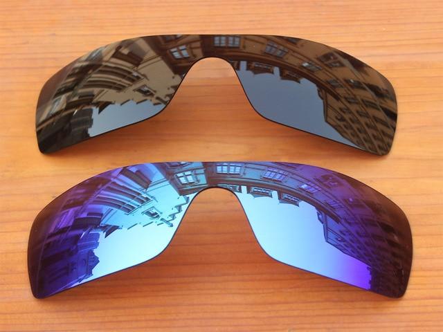 2a4bd0ee6a985 Black   Blue Ice 2 Peças Lentes de Substituição Para O Batwolf Polarizada  Óculos De Sol
