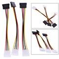 3 шт. 4 Pin IDE до 15 Pin SATA Кабель Питания Удлинители Serial ATA Жесткий Диск SATA Кабель Адаптер Питания