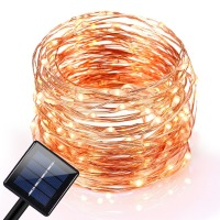10M 120 LEDs Outdoor Solar LED String Fairy Light Curtain Light Waterproof Copper Wire Lights For