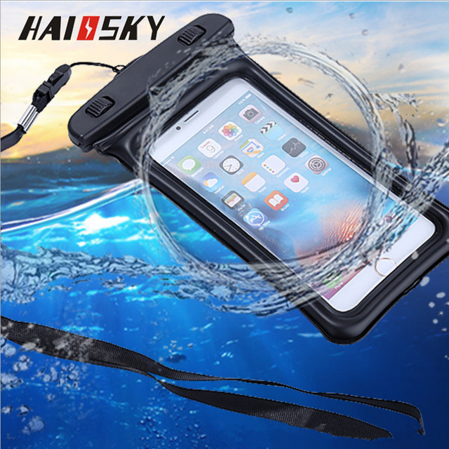 huge selection of 20882 8c53a US $2.49 30% OFF|Haissky Float Waterproof Bag Case For iPhone X 8 7 6 6s  Plus 5 5S Xiaomi Redmi Note 4X Mi5 Mi 6 Huawei P10 P9 lite Sport Cover -in  ...