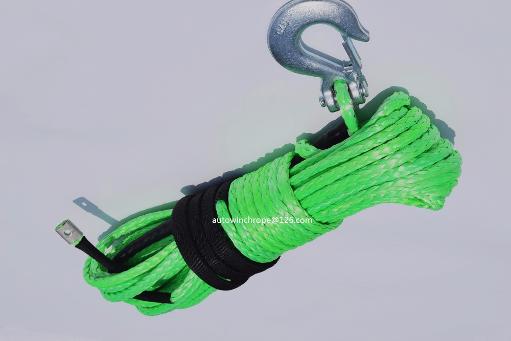 10mm*30m Green Synthetic Winch Rope,ATV Winch Cable,3/8 x 100 Winch Cable,Winch Rope Extension