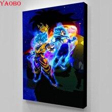 Искусство и ремесла 5D DIY Алмазная картина круглая вышивка крестиком Dragon Ball Z полная квадратная Мозаика из смолы Алмазная вышивка рукоделие