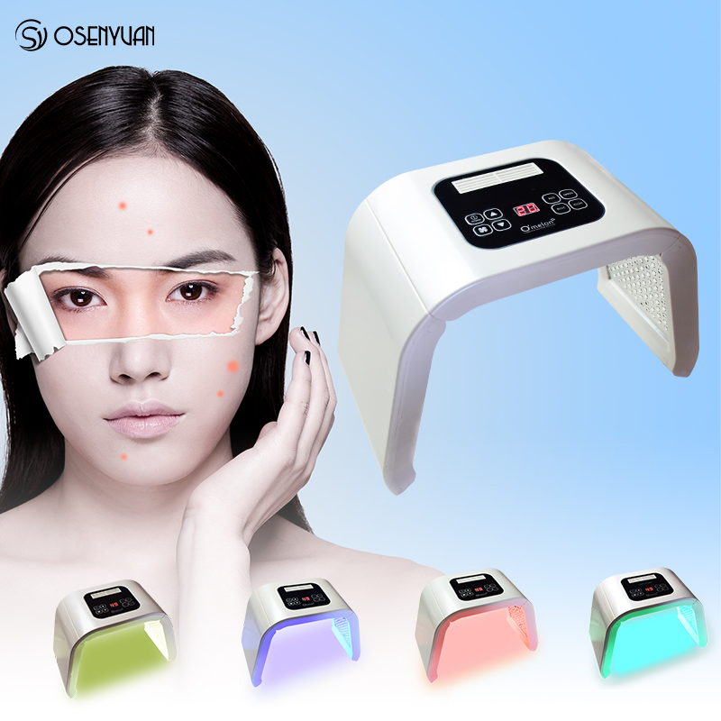 Portable PDT LED photon light Therapy 7 Colors Led Face Mask Light Phototherapy Lamp Machine For Acne Remover Skin Rejuvenation in Powered Facial Cleansing Devices from Home Appliances