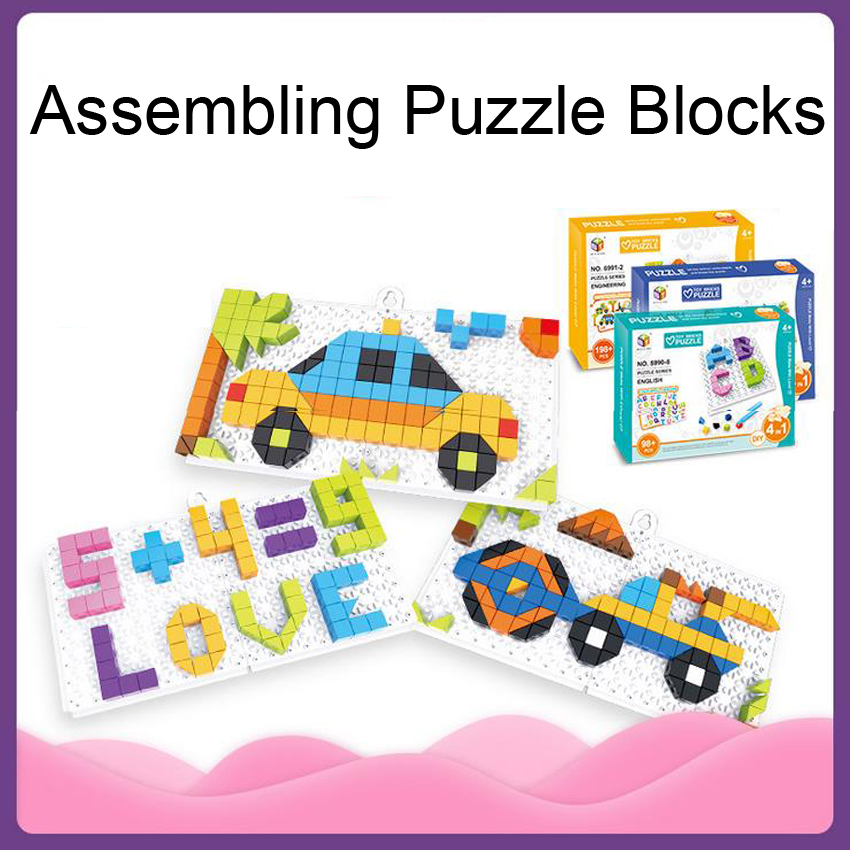 DOLLRYGA 3D Puzzle Jigsaw Plastic Toy For Children Animals And Vehicle Jouet Enfant High Quality Early Educational Toys Juguetes