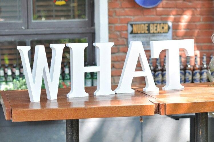 Large alphabet letters home decor