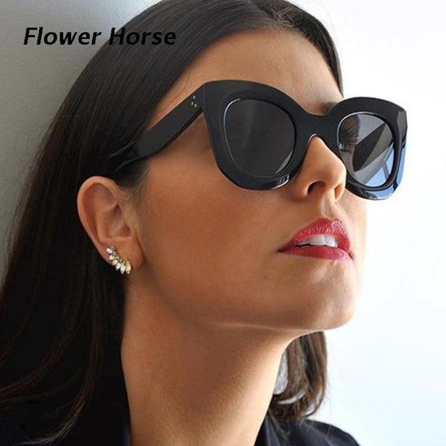 7b19c10931 Brand Design Large Frame Butterfly Casual Black Sunglasses Women Fashion  High Quality Sun Glasses European Eyewear