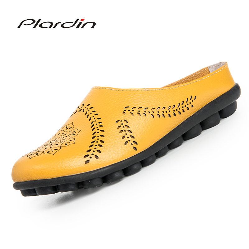 Plardin Cow Muscle Ballet Summer Flower Print Women Genuine Leather Shoes Woman Flat Flexible Nurse Peas Loafer Flats AppliquesmPlardin Cow Muscle Ballet Summer Flower Print Women Genuine Leather Shoes Woman Flat Flexible Nurse Peas Loafer Flats Appliquesm