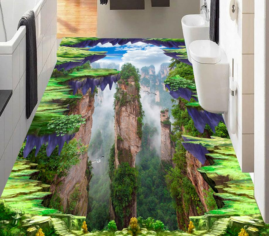 3d wallpapers for living room custom 3d flooring mountain for Painting with nature items