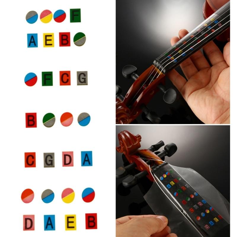 New 4/4 Violin Beginner Fiddle Fingerboard Stickers Fret Markers Labels Multicolor  Useful