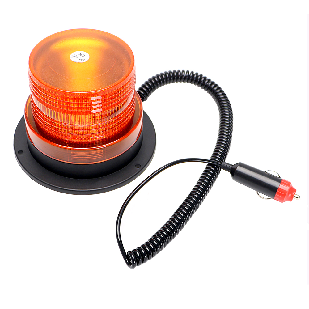 Yellow Strobe Emergency Lamp Truck Warning Light Flash Beacon Car-styling 12V 10 LED Car Accessories Magnetic Light Source hot sale solar power led warning flash lamp decorative automobile air outlet shiny warning light lamp car styling