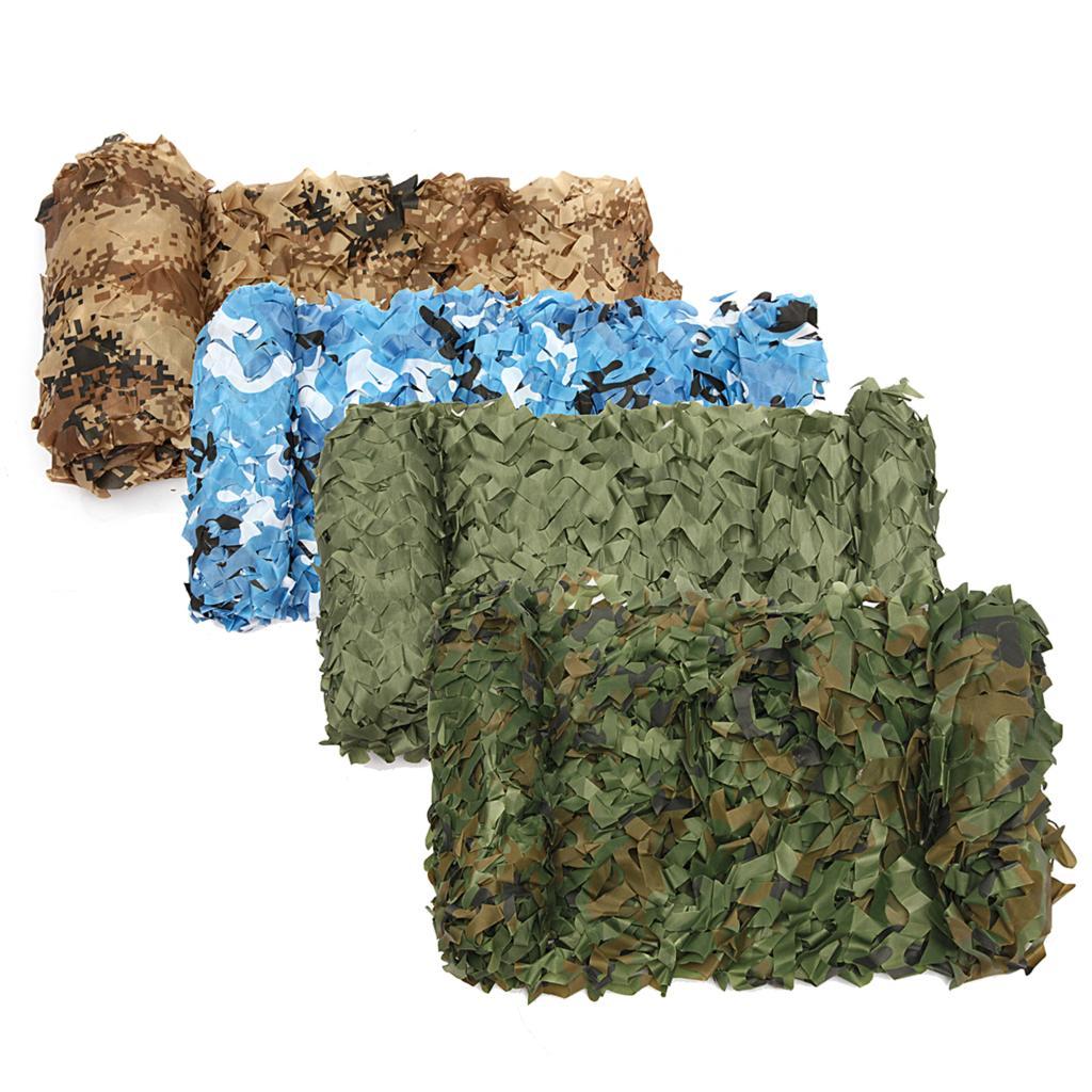 2 M * 10 M militaire Camouflage filet chasse aveugle 150D Polyester soleil UV tente pour la chasse pêche bâche soleil UV store Camouflage Net