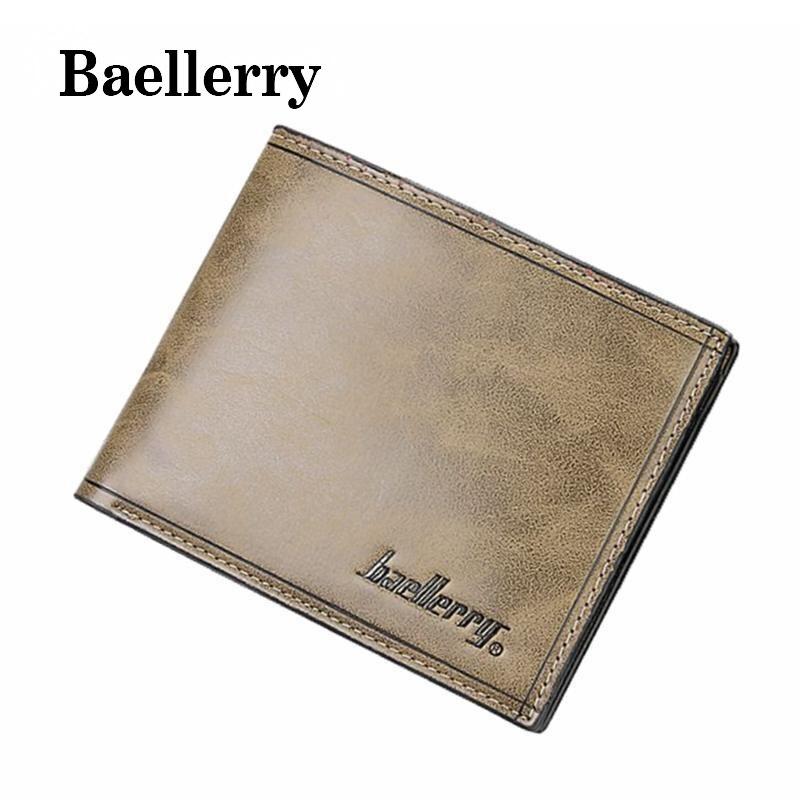 Baellerry 2017 New Men Credit Card Holder Leather Wallet For Men Short Design Purse Brand  PU Leather Men Wallet Carteira DB5697 etya bank credit card holder card cover