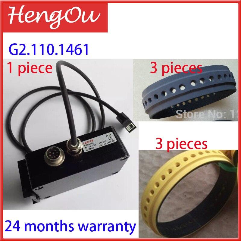 RL12, heidelberg sensor G2.110.1461/05, 3 pieces yellow belt, 3 pieces grey belt