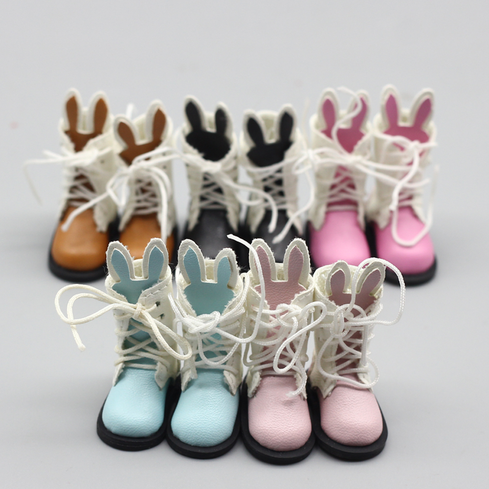 1pair Cute rabbit boots for blyth doll 1/6 30cm doll shoes for bjd gift toy 1pair shoessuitable for 1 6 doll normal doll joint doll bjd blyth icy jecci five licca body for 30cm doll shoes