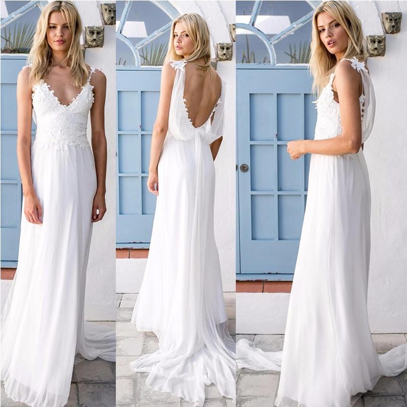 Buy vestido de novia sexy bohemian for Backless bohemian wedding dress