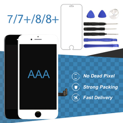 AAA Black White Panel For iPhone 7 7P 8 8P LCD Screen Digitizer Assembly Phone Replacement For iPhone 7 & 8 Plus LCD Display