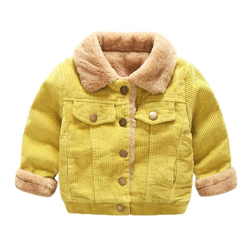 Chaquetas de lana de piel de invierno Benemaker para niños ropa gruesa Parkas de pana abrigos monos de bebé niños prendas de vestir exteriores YJ031