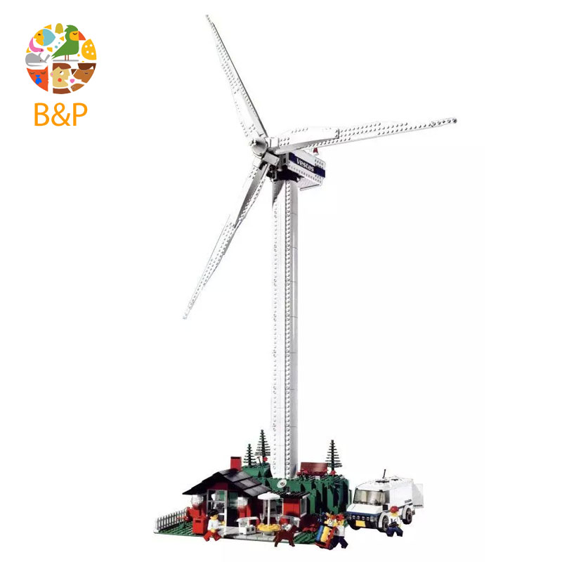цена lepin Legoing 4999 873pcs Creator The Vestas Windmill Turbine Model Building Blocks Brick Educational Toys For Children 37001