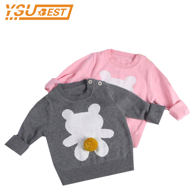 Boys Jumpers Autumn Knit Kids Bear Pattern Clothes Kids Pullover