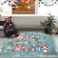 2017 New Christmas Chess Carpet Rugs Cartoon Kids Play Carpets For Living Room Anti Slip Floor