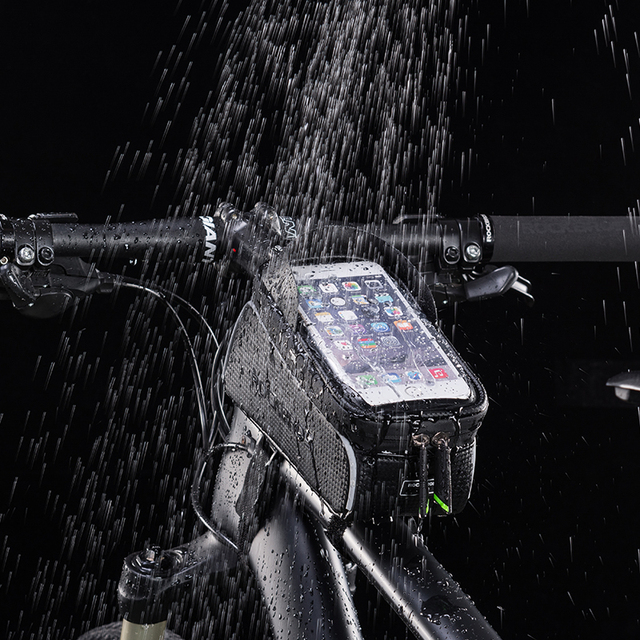 6″ Waterproof Bicycle Top Tube Headset Touchscreen Phone Case Bag