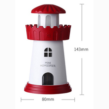 FFFAS Lighthouse Beacon USB Humidifier Aroma Essential Oil Diffuser Ultrasonic Air Spray Fog Sprayer Steam Maker USB Gadgets Big