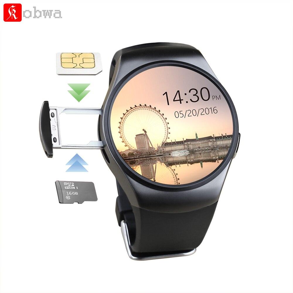 Натуральная KW18 Bluetooth Смарт-часы Полный Экран Поддержка sim-карта TF Smartwatch телефон монитор сердечного ритма для ios Andriod телефон