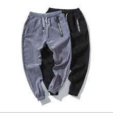 Top quality 2019 Spring Summer thin corduroy trend men's pants beam foot casual trousers Ankle Length harem pants Plus Size 5XL цена в Москве и Питере