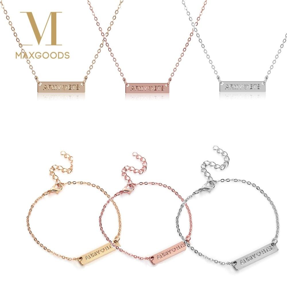 Toys & Hobbies Zhimin Bracelet Korean Concise Tide Student Necklace Woman Clavicle Chain Kpop Bts Bt21 Accessories Letter Bracelet Necklace Goods Of Every Description Are Available
