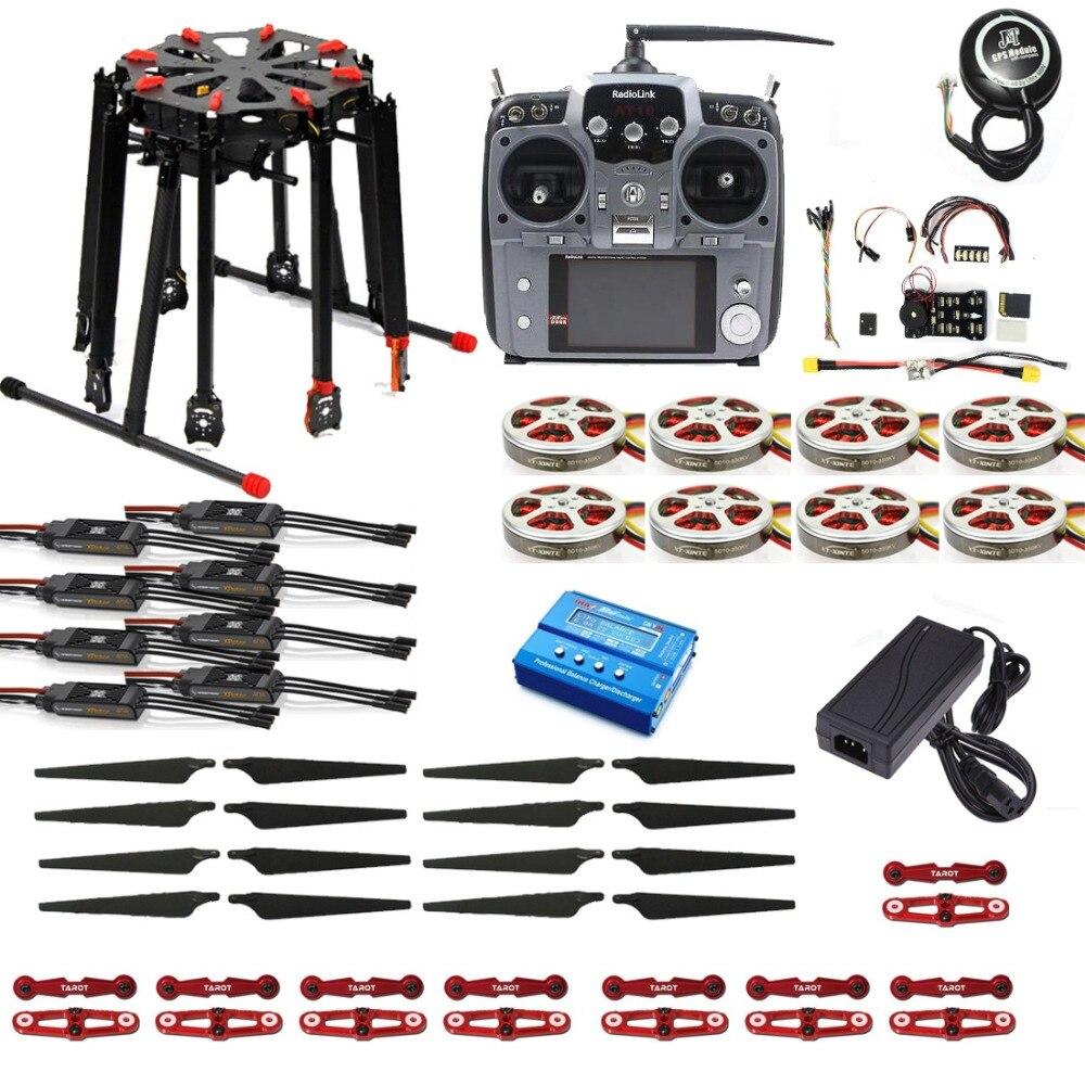 Tarot X8 Folding Frame Kit Pro 2.4G 10CH RC 8-Axle Octocopter Drone PIX PX4 M8N GPS ARF/PNF DIY Unassembly Kit Motor ESC
