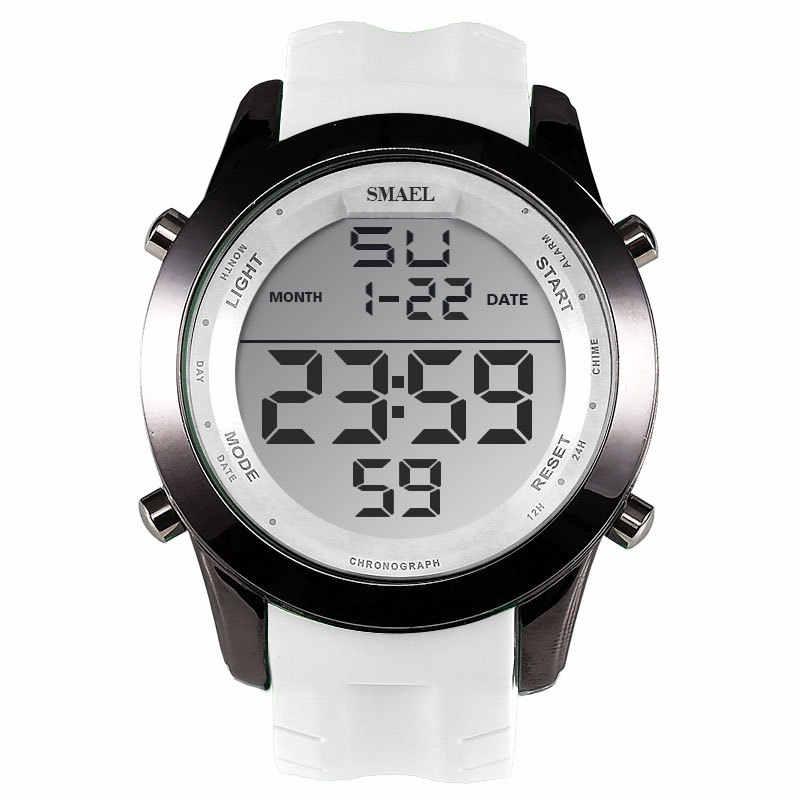 a096c3a61517 Бренд smael светодио дный часы для мужчин спортивные часы Секундомер  Хронограф Авто Дата 1076 наручные часы