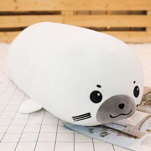 Image 5 - Joint Animal en peluche, joint Animal licorne raton laveur, joint, coussin pour dormir doux, poupées, jouets de dessin animé pour bébés, 50/60/80CM, 1 pièce